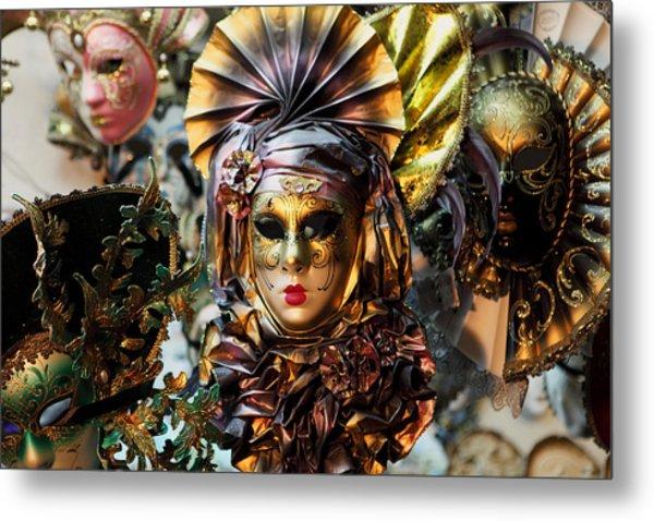Carnevale Masks In Venice Metal Print