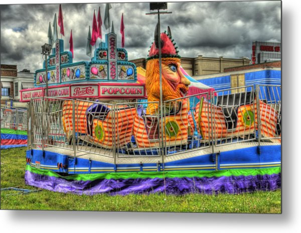 Carnival At Crocker Park Metal Print by Neil Doren