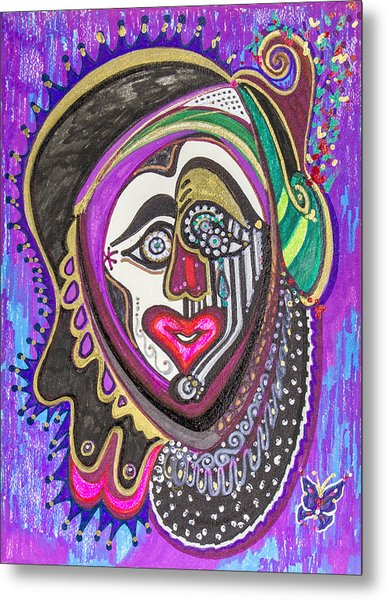 Carnival Face Metal Print