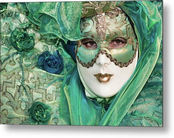 Carnival In Green Metal Print
