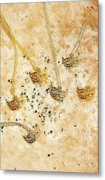 Carnival Masquerade Jewels Metal Print