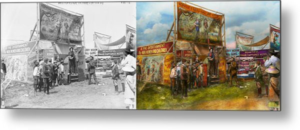 Carnival - Wild Rose And Rattlesnake Joe 1920 - Side By Side Metal Print