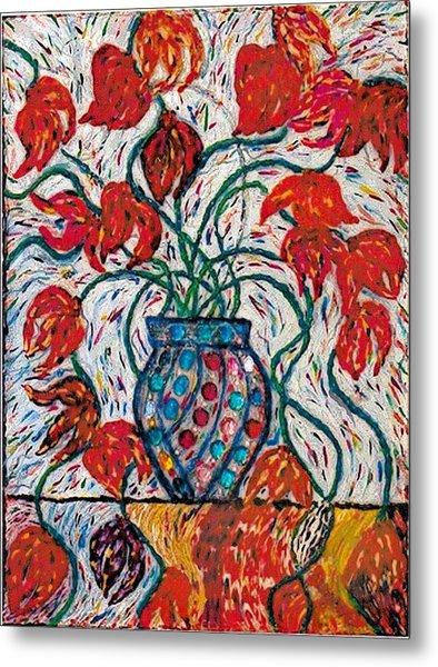 Carnivale Of Flowers Metal Print by Brenda Adams