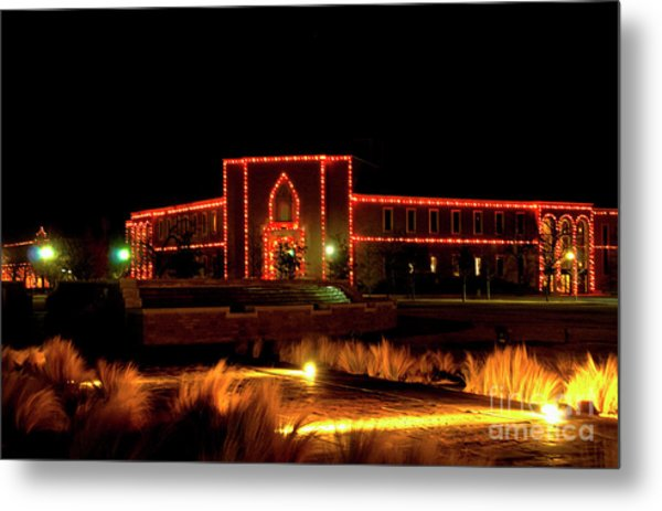 Metal Print featuring the photograph Carol Of Lights At Science Building by Mae Wertz
