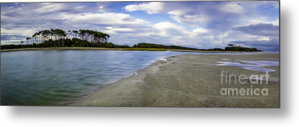 Carolina Inlet At Low Tide Metal Print