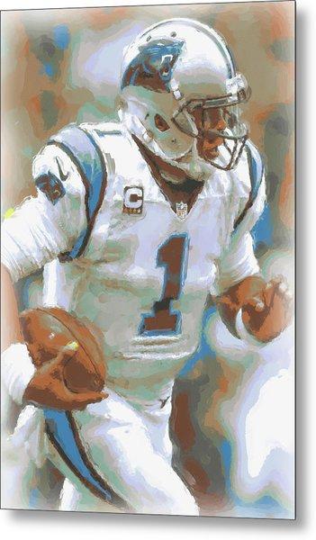 Carolina Panthers Cam Newton 2 Metal Print