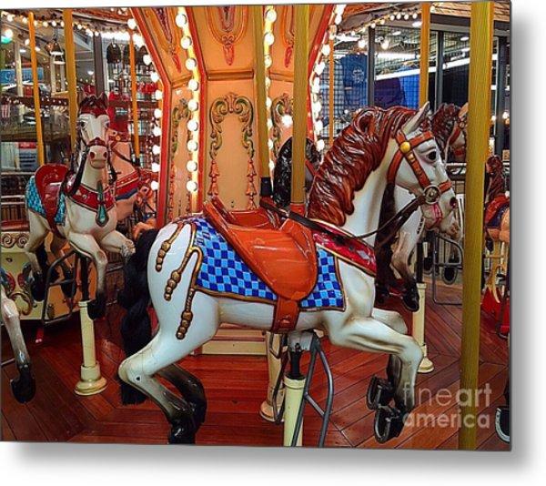 Carousel Horses In Gatlinburg Metal Print