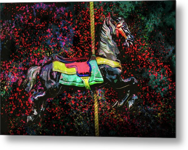 Metal Print featuring the photograph Carousel Number 16 by Michael Arend