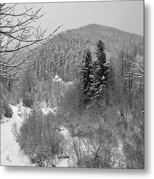 Carpathian Winter. Sheshory, 2010. Metal Print