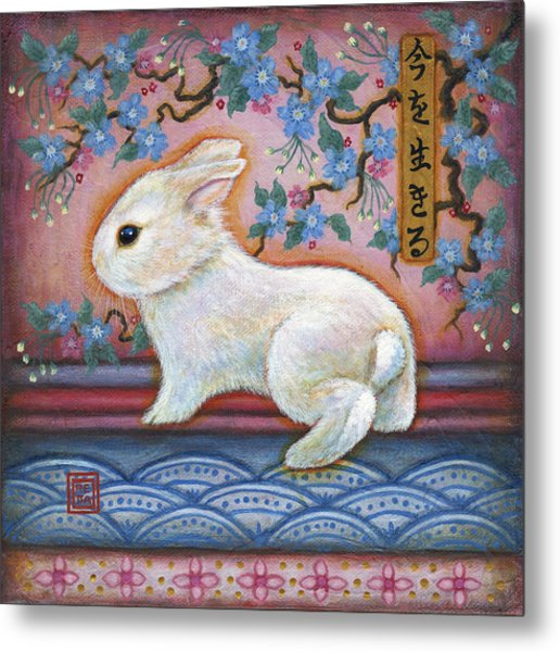 Carpe Diem Rabbit Metal Print