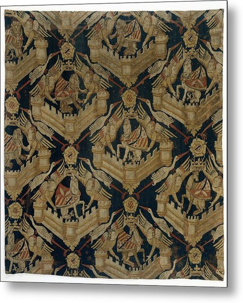 Textile Tapestry Carpet With The Arms Of Rogier De Beaufort Metal Print
