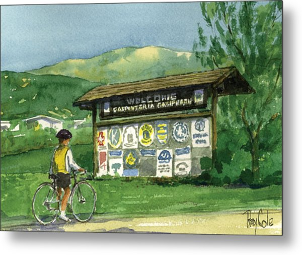 Carpinteria Welcome Sign Metal Print by Ray Cole