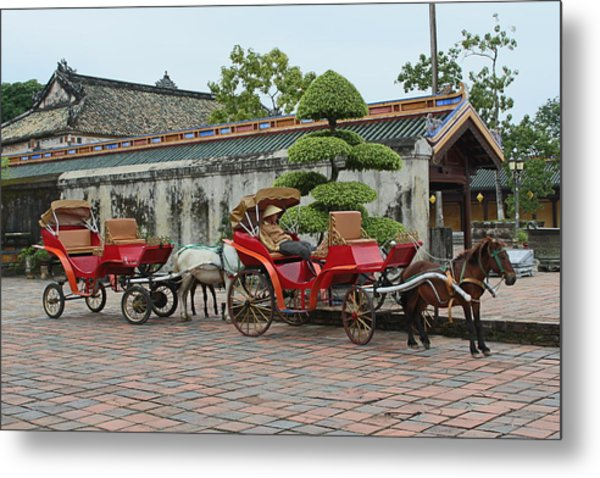 Carriage Rides Metal Print