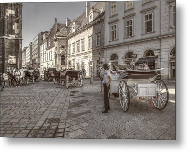 Carriages Back To Stephanplatz Metal Print