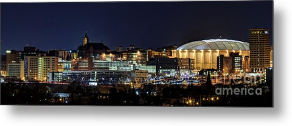 Carrier Dome And Syracuse Skyline Panoramic View Metal Print