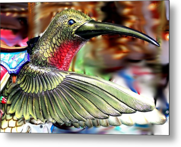 Carrousel Hummingbird Metal Print