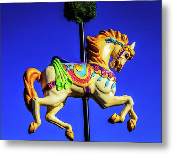 Carrousel Sign Metal Print