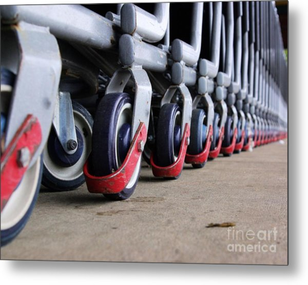 Cart Wheels Metal Print