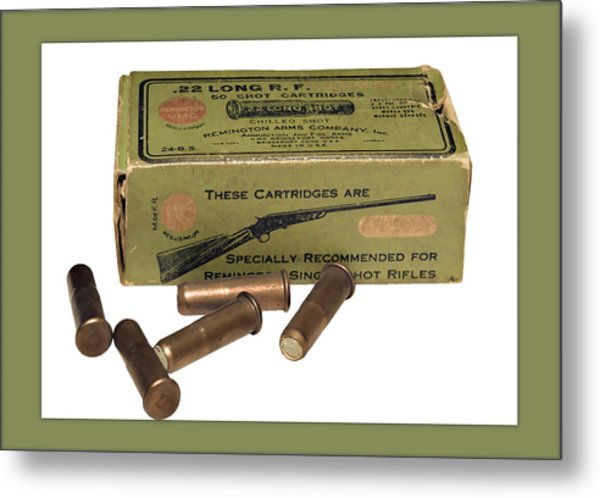 Cartridges For Rifle Metal Print