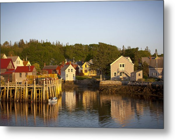 Carvers Harbor At Sunset, Vinahaven, Maine Metal Print