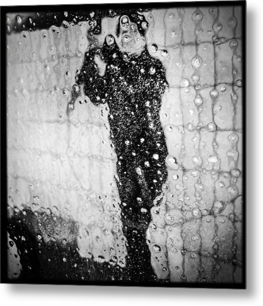 Carwash Cool Black And White Abstract Metal Print