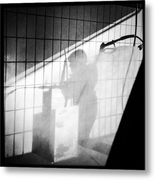 Carwash Shadow And Light Metal Print