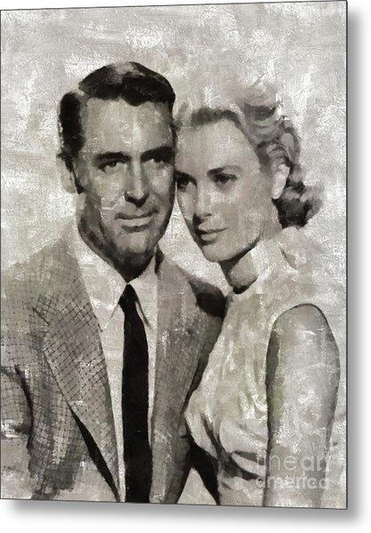 Cary Grant And Grace Kelly, Hollywood Legends Metal Print