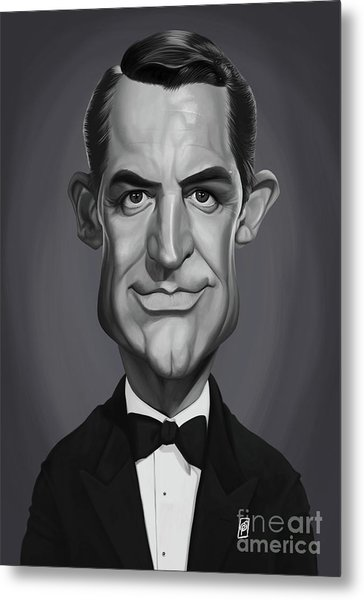 Metal Print featuring the digital art Celebrity Sunday - Cary Grant by Rob Snow