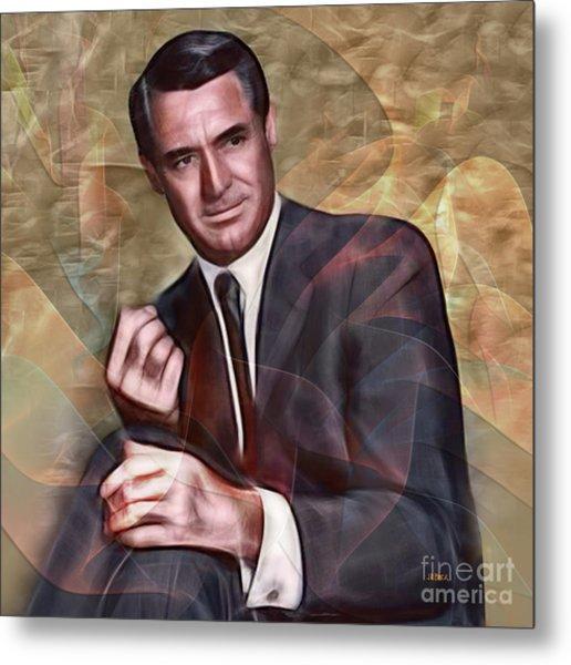 Cary Grant - Square Version Metal Print