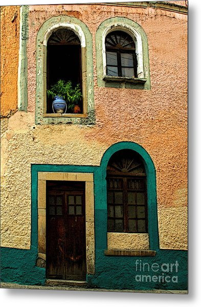 Casa With Sea Green Metal Print by Mexicolors Art Photography