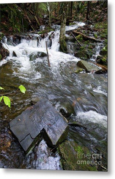 Cascade Falls Stream, Farmington, Maine  -30329 Metal Print