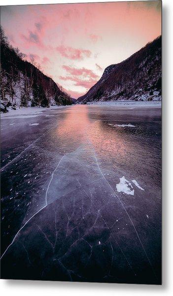 Cascade Ice Metal Print