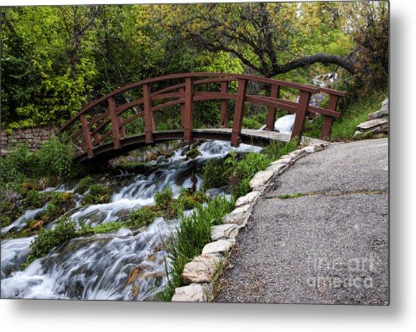 Cascade Springs Bridge Metal Print