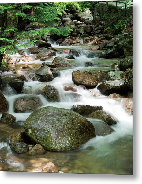 Cascading Water Metal Print