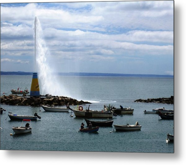 Cascais Fishing Boats Portugal Metal Print