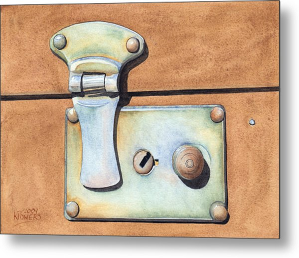 Case Latch Metal Print