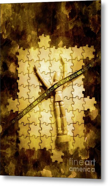 Case Of A Unsolved Crime Metal Print