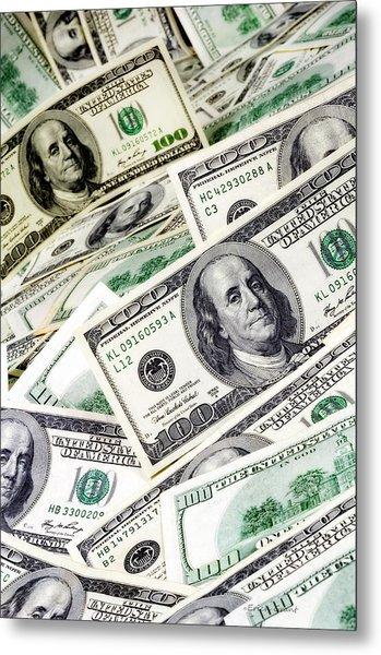 Cash Money Metal Print