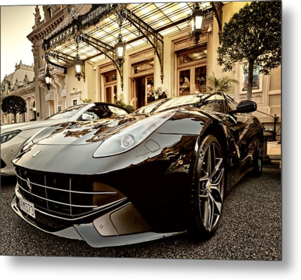 Casino Monte Carlo Vip Parking Metal Print