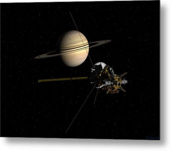 Cassini Closing In On Saturn Metal Print