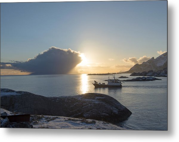 Cast A Giant Shadow... Reine Lofoten Metal Print