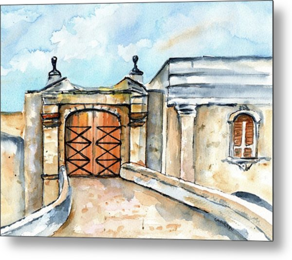 Castillo De San Cristobal Entry Gate Metal Print