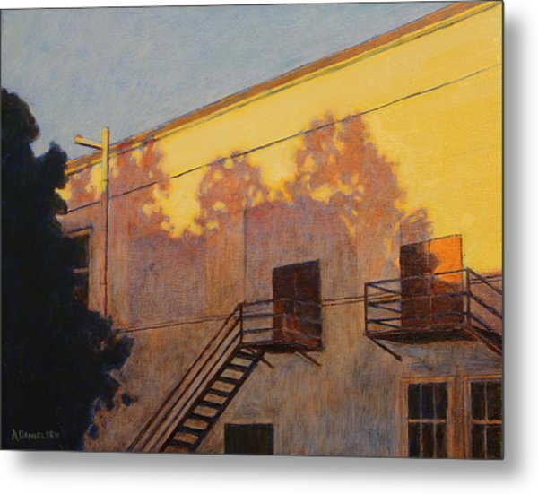 Casting Evening Ecology Metal Print