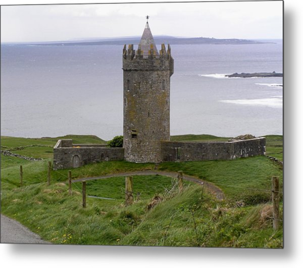 Castle By The Sea In Ireland Metal Print
