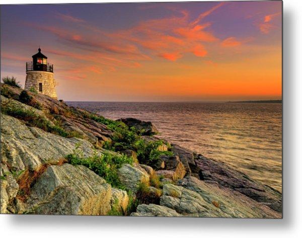 Castle Hill Lighthouse - Newport Rhode Island Metal Print