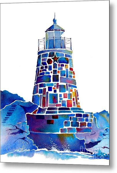 Castle Hill Newport Lighthouse Metal Print