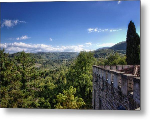 Castle In Chianti, Italy Metal Print