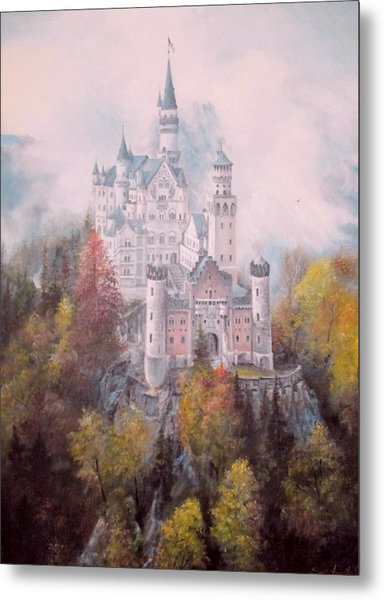 Castle In The Clouds Metal Print