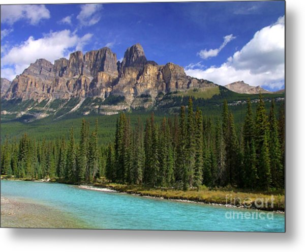 Castle Mountain Banff The Canadian Rockies Metal Print