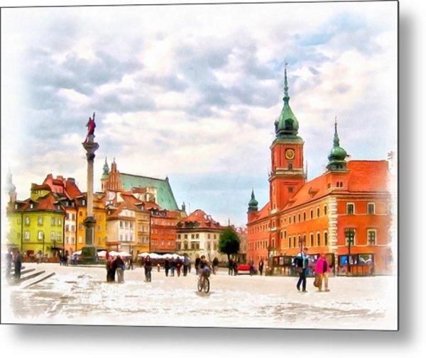 Castle Square, Warsaw Metal Print